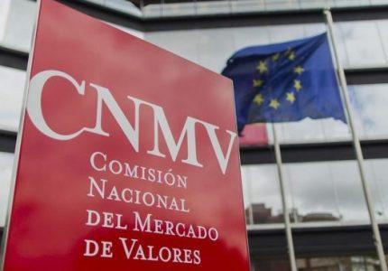 CNMV y bandera UE - Criptomonedas