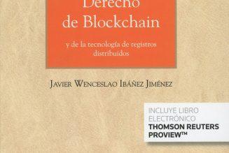 Derecho de Blockchain Aranzadi, agosto 2018